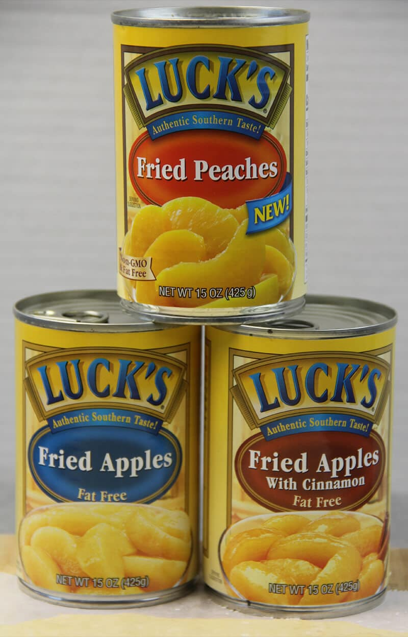 Cans of Luck's apples to make Easy Apple Strudel.