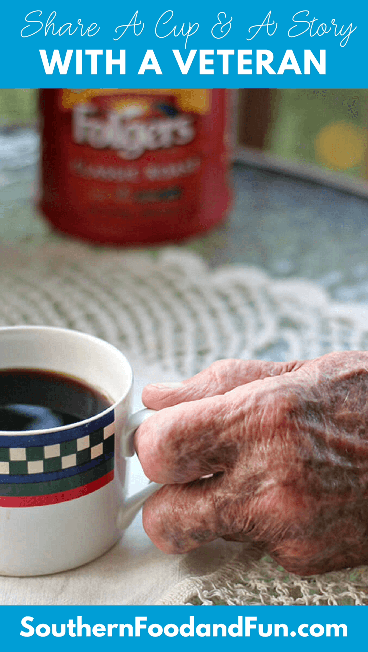 Have you talked with a veteran lately? Stop by your local Walmart and pick up some Folgers coffee, then go visit a veteran that you know and just ask about their service—and let them know they are appreciated. It's a small thing, but it can mean so much. #AD #folgers #veteransday #veterans