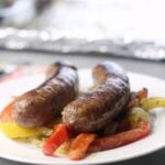 Sausage, Peppers, and Onions – Sheet Pan Dinner