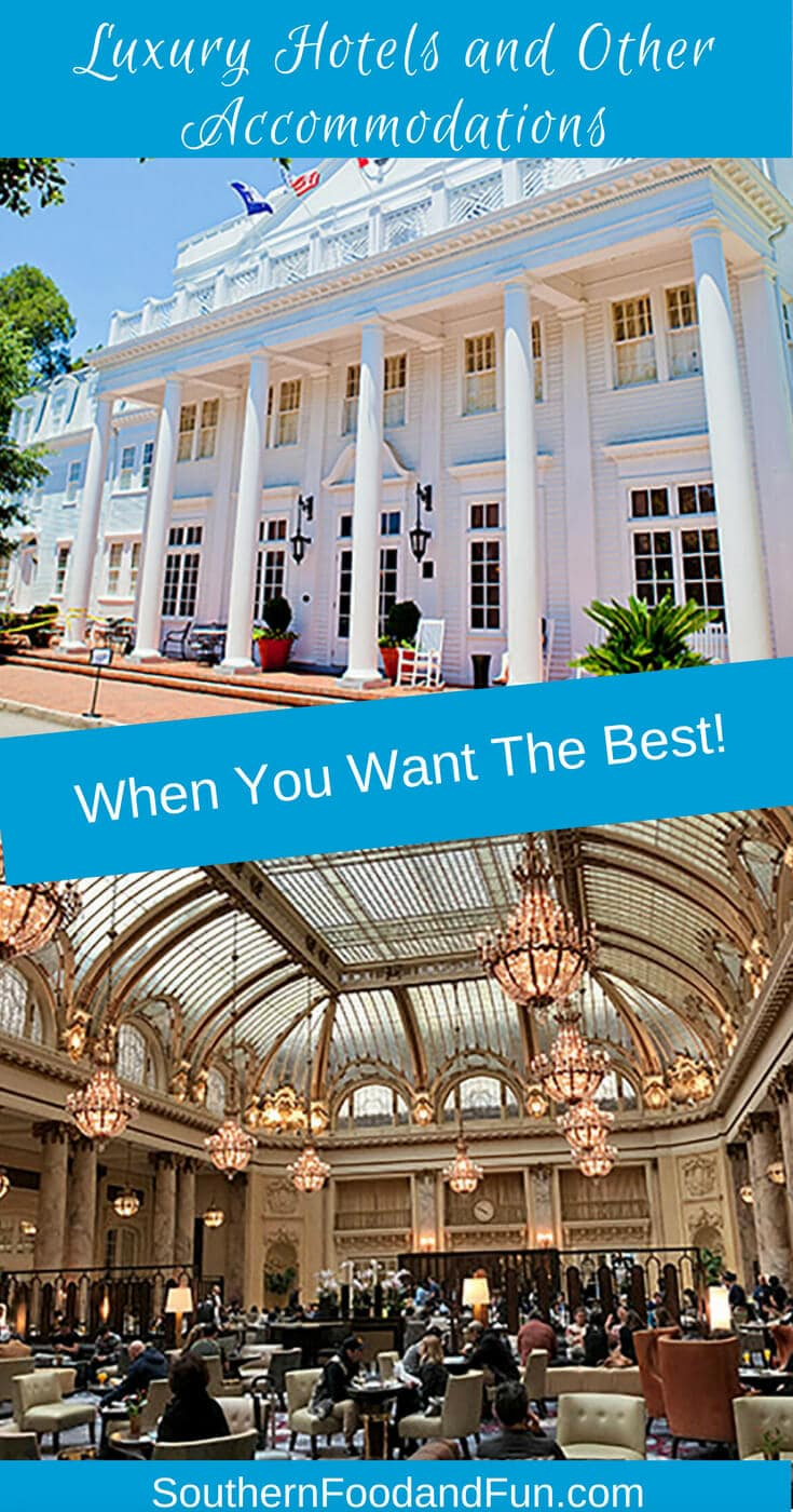 A list of luxury hotels and other accommodation types that are highly recommended for adult travelers.