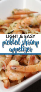Pickled Shrimp is a simple shrimp recipe made with onions, vinegar, and pickling spice. It's perfect for an appetizer or as a main course.