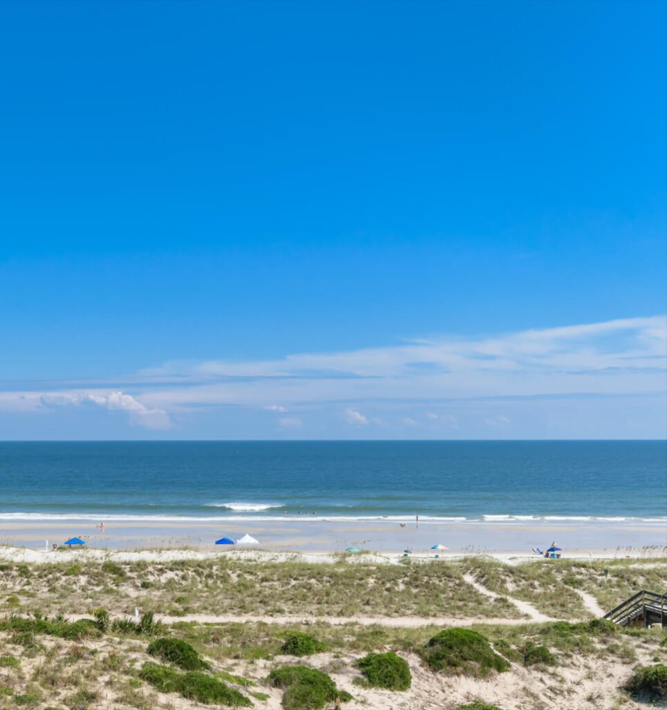 View of the beach at Amelia Island.