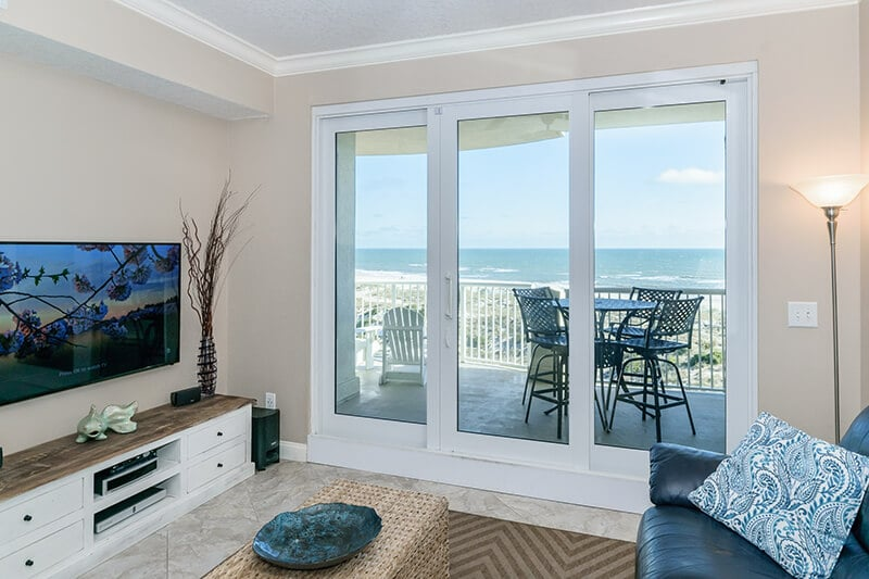 View from the living room of our Amelia Island condo.