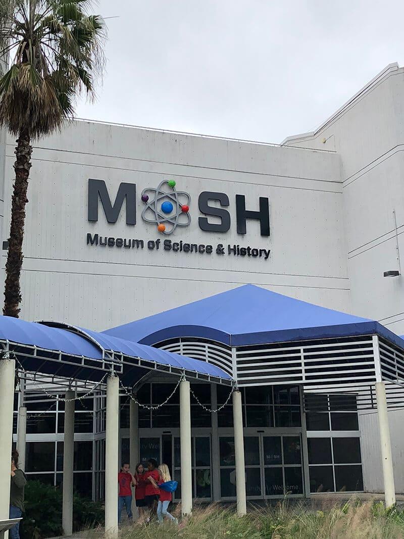 MOSH museum front door in Jacksonville, close to Amelia Island.