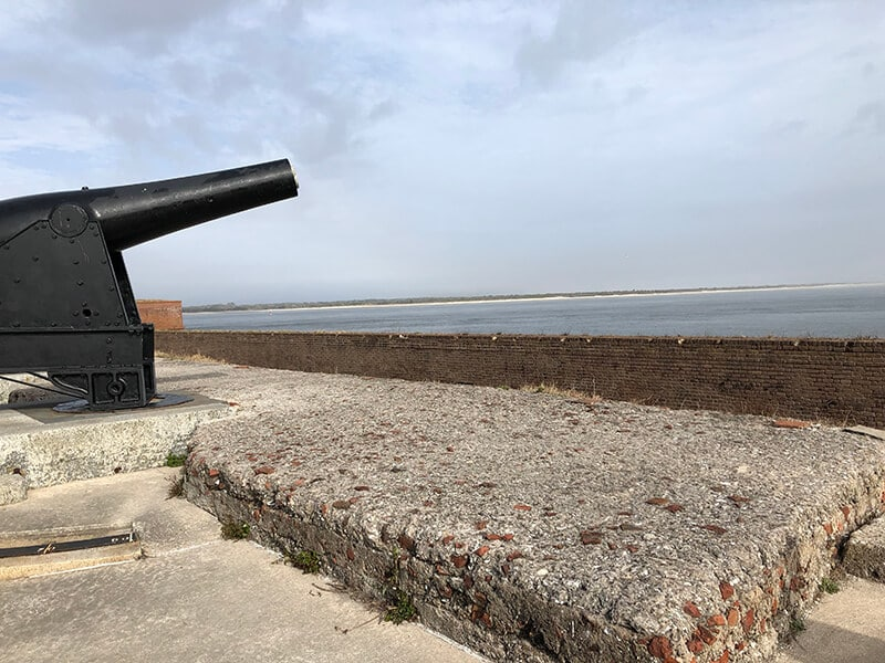 Cannon at Fort Clinch park in Amelia Island.