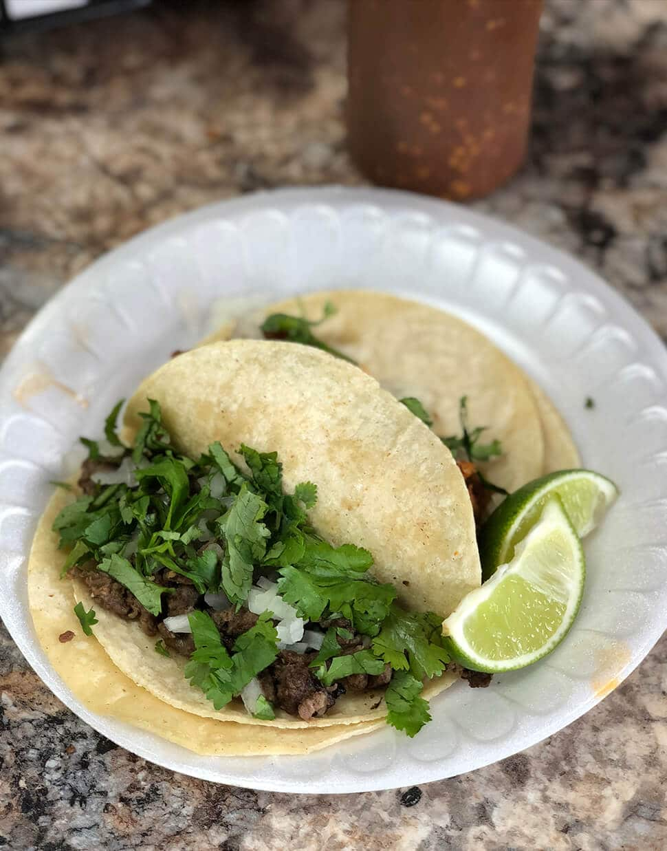 The beef taco from La Surena, best restaurants Amelia Island and a local secret.