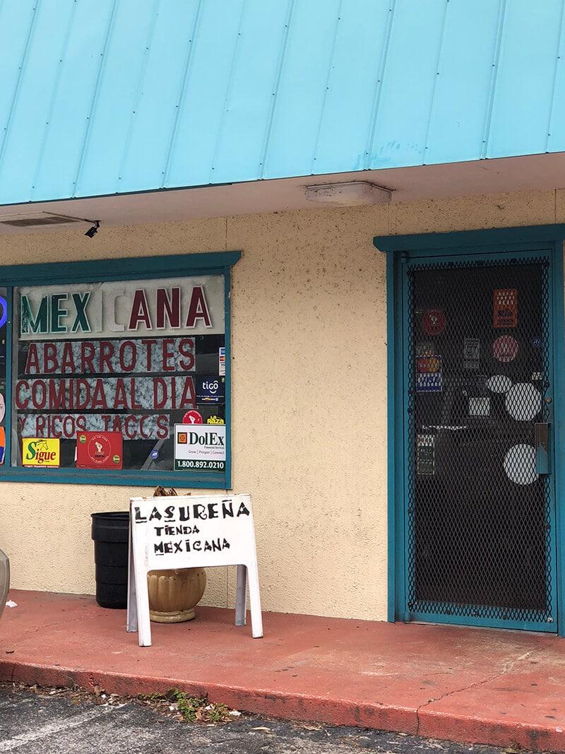The front of La Surena, a favorite restaurant.