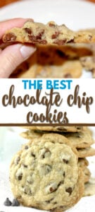 The best chocolate chip cookies are soft in the middle and a little crispy around the edges—with extra brown sugar and two kinds of chocolate!
