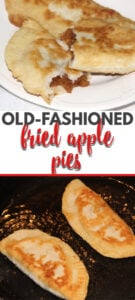 Fried apple pies like Granny used to make. Sweet apple filling inside tender fried pastry dough! Simple Southern cooking at its best!