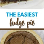 Fudge pie made with cocoa takes about 10 minutes to put together and 30 minutes to bake into the most delicious pie you've ever had!