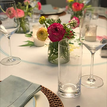 Photo of table setting as featured image for Entertaining page.