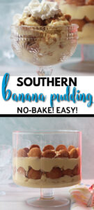 This is the best Southern Banana Pudding made with a rich, creamy homemade custard and topped with whipped cream. The homemade custard makes all the difference!