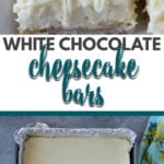 White Chocolate Cheesecake Bars with a hint of lemon and a yummy shortbread crust are easy to make and just right for bridal showers, dinner parties, or simple family suppers.