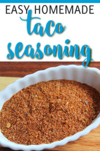 Homemade Taco Seasoning made with chili powder, onion powder, garlic and other spices is a versatile seasoning mix to have on hand, not just for tacos but for any type of roasted or grilled meat. Try this easy version and get rid of the packet for good!