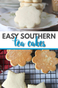 Tea cakes are buttery and slightly soft, not as sweet as a sugar cookie and falling somewhere between a cookie and a cake. They are an old-fashioned Southern favorite! This recipe is so easy--no mixer required and no chilling dough. You can have these wonderful tea cakes ready in about 30 minutes!