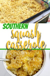 Southern Squash Casserole is a favorite at every gathering. With grated Cheddar cheese, crumbled Ritz crackers, and fresh summer squash, this squash casserole is a great way to use those summer vegetables!