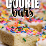 Sugar Cookie Bars are super easy to make and perfect when you don't have time to roll and cut cookies! These cookie bars have the best flavor—your family will devour them!