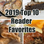 Photos of recipes from the top 10 list, including pork chops and fudge pie.