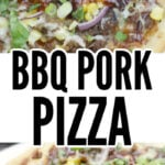 BBQ Pork Pizza with Roasted Corn, Jalapeno, and Smoked Mozzarella is super easy using leftover bbq pork. This BBQ Pork Pizza pops with flavor and is a great addition to a weekly meal plan.