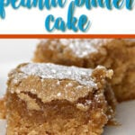 Easy Peanut Butter Cake uses just six ingredients, is mixed in one bowl, and bakes in about half an hour. It's simple and quick and your family will love it!