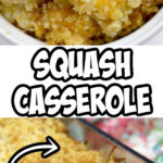 Squash Casserole is a favorite at every potluck gathering. With grated Cheddar cheese, crumbled Ritz crackers, and fresh yellow squash, this casserole is a great way to use those summer vegetables!