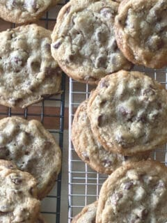 These award winning chocolate chip cookies are soft in the middle and a little crispy around the edges—with extra brown sugar and two kinds of chocolate! Hundreds of reviews say these are some of the best!