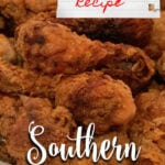 Southern Fried Chicken made the simple, old-fashioned way it used to be made. Just sprinkle the chicken with salt and pepper, dredge in flour, and fry! So easy!