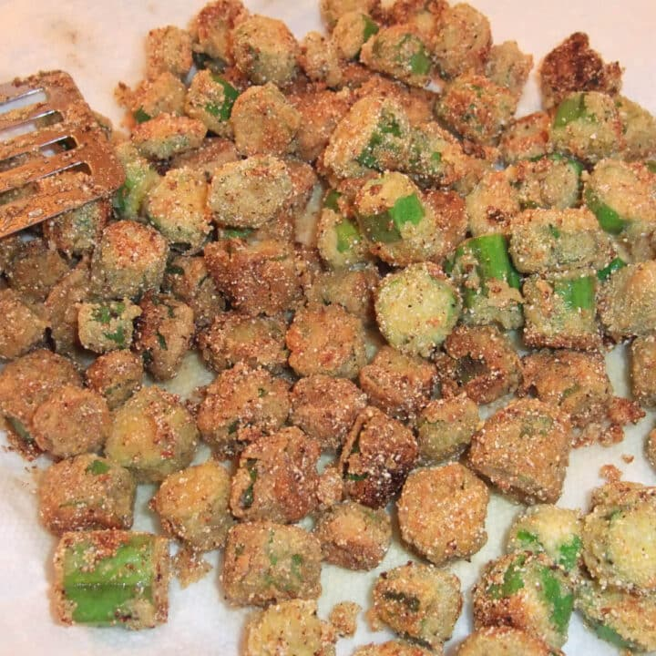 Fried okra with a light and crispy cornmeal batter is a tasty side dish for any of your favorite Southern meals. And it's easy to make!