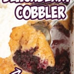 Blackberry Cobbler is a perfect sweet and tart dessert, with an easy self-made buttery crust over juicy blackberries. This is a classic, Southern favorite!
